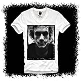 E1SYNDICATE MENS V-NECK T-SHIRT HEATH LEDGER JOKER BATMAN DARK KNIGHT KULT S/M/L/XL