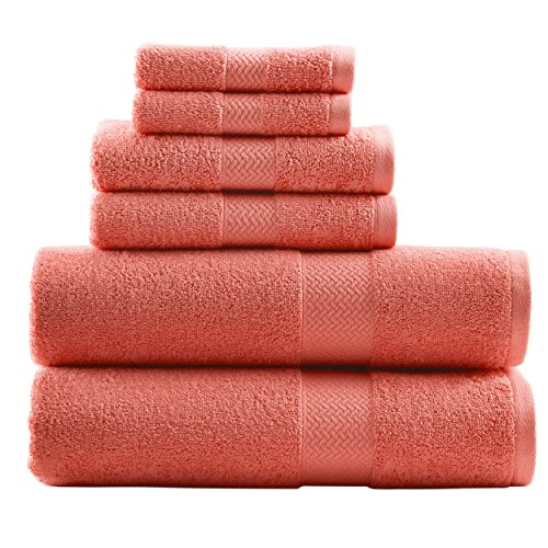 Tommy Bahama 215586 Cypress Towel Cypress 6Piece Towel Set,Deep Coral (Bath Coral Towel Set)