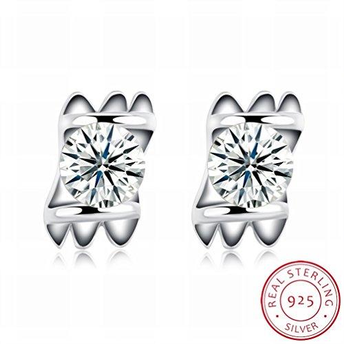 MOMO Mode Boucles D'oreilles Mode Femmes Style Simple Style Boucles D'oreilles / Acier Inoxydable / Anti-allergique / Argent Brillant / Diamant / Petit Et Fin