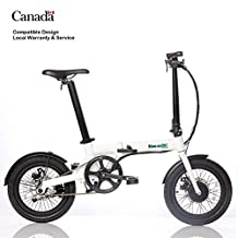 Ultra light 14kg folding e bike electric assist bicycle 250W removable Li-ion battery in collapsible ebike seat post disk brake foldable 16in scooter