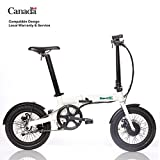 Ultra light 14kg folding e bike electric assist bicycle 250W removable Li-ion battery