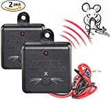 2 × VENSMILE Ultrasonic Control Under Hood Rat Mice Mole Repeller Car Pest ...