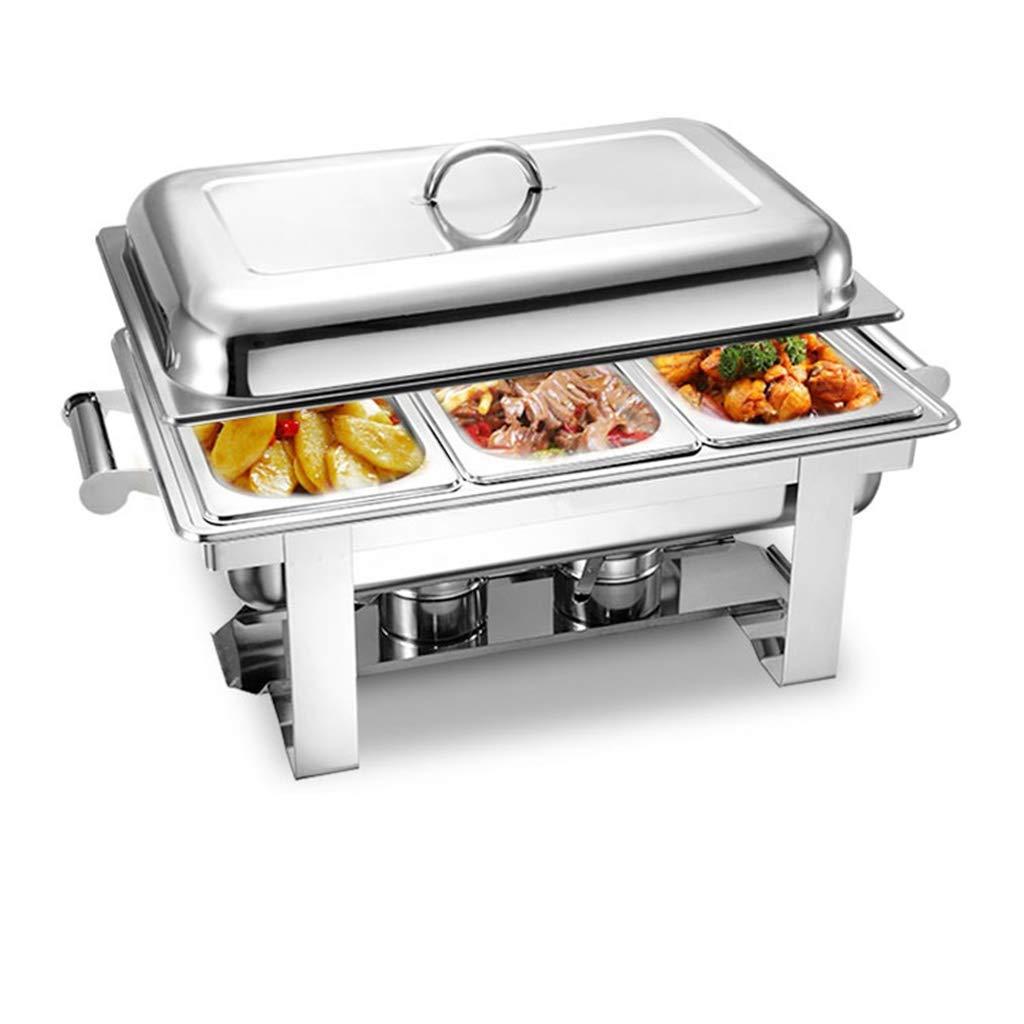 buffet セルフサービスディスプレイスタンド多機能ビュッフェ食器類フリップカバーヒーター断熱大容量保温炉朝食ストーブ three grids  B07K9SLVRK