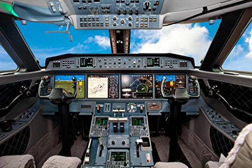 Private Aircraft Jet Air Plane Cockpit High Detail Instruments Photo Poster 36x24 ()
