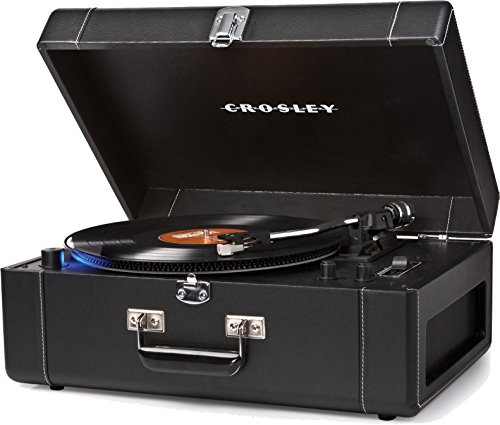 Crosley CR6250A-BK Keepsake Deluxe Portable and Adjustable USB Turntable with Built-in Preamp, Black (Certified Refurbished)