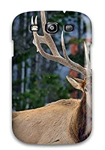 AdrianMichelleCole Premium Protective Hard Case For Galaxy S3- Nice Design - Nature Animal Feed Deer Green Grass
