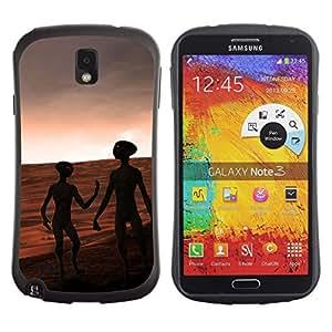 Suave TPU GEL Carcasa Funda Silicona Blando Estuche Caso de protección (para) Samsung Note 3 / CECELL Phone case / / Aliens Mars Red Planet Universe Cosmos Space /