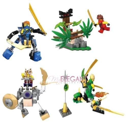 [jounsangjom Ninjago Ninja Kai Lloyd Jay 4 Mini Figure Playset Fits with Building Block] (Parrot Costume Ebay)