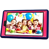 Teckology Silicone Gel Hard Kindle Fire HD8 2016 Cover Military Anti-Shock Kids Safe Proof Soft Gel Case Protective Skin Navy/Rose