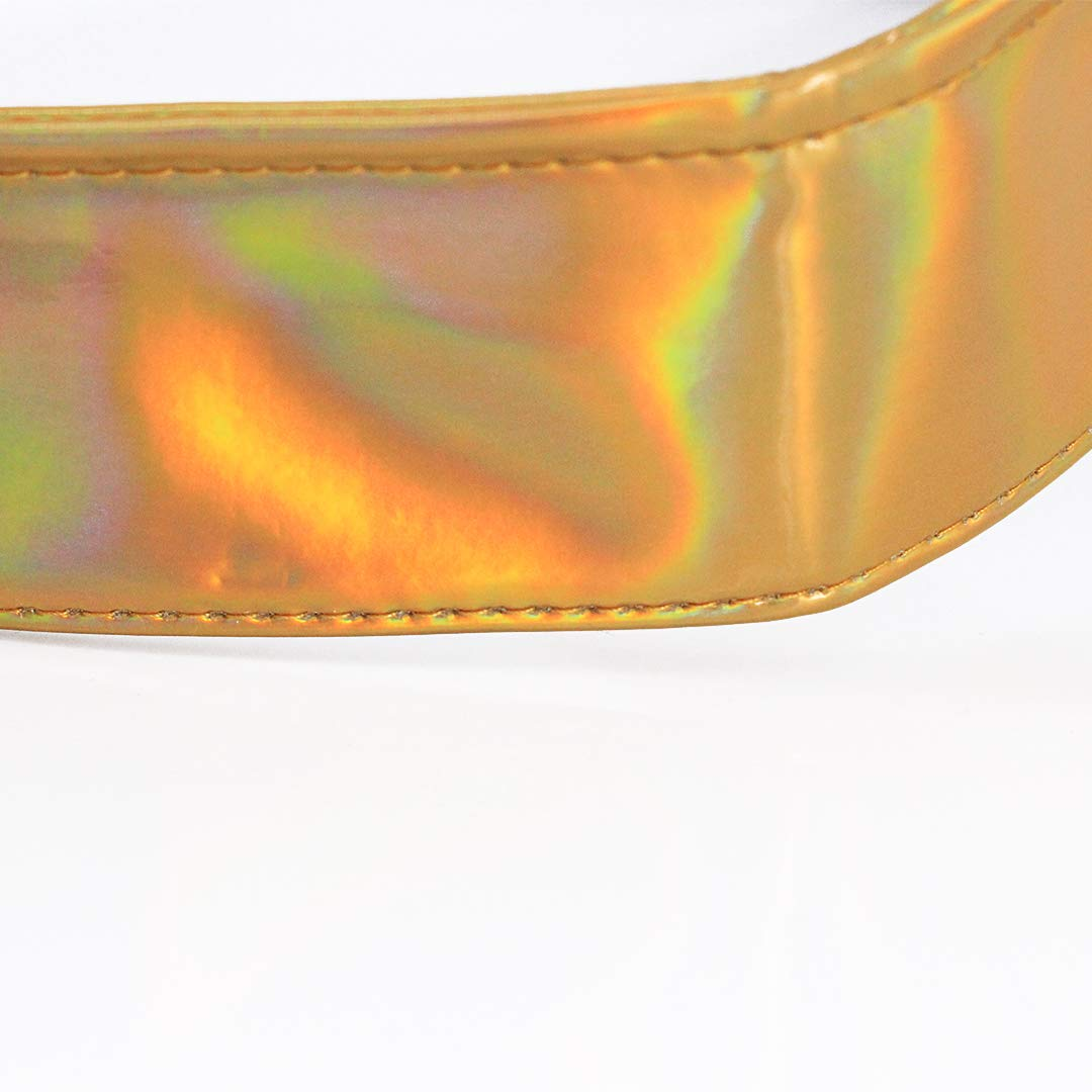 Rebecca Women Men UV Protection Laser Leisure Sun Visors Hologram Wide Brim Outdoor Sports Beach Sun Hat