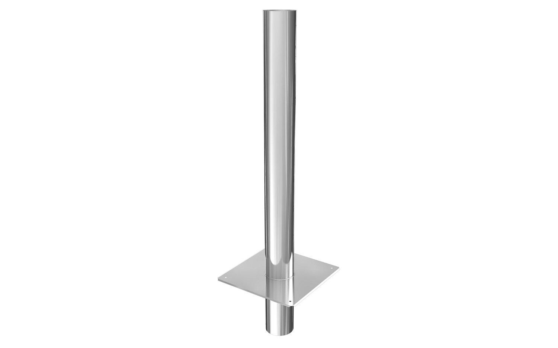 Edelstahl Schornsteinverlängerung doppelwandig DW150 mm L//1000 mm Einschub eckig