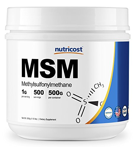 Nutricost Pure MSM Powder 500 Grams (Methylsulfonylmethane)