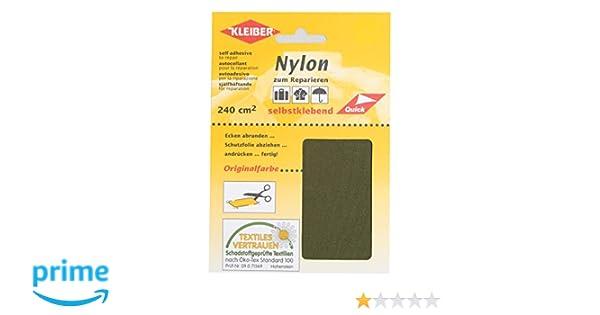 Kleiber - Parches de reparación de nailon, impermeables, autoadhesivos, color verde aceituna: Amazon.es: Hogar