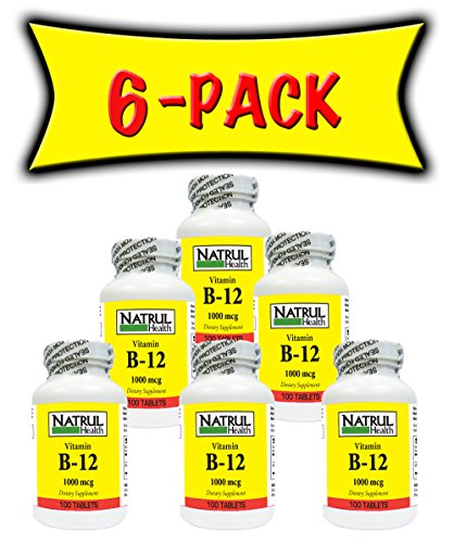NAT-RUL Vitamin B12 500mcg 100 tablets (6 PACK) by NAT-RUL