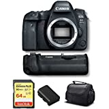 Canon EOS 6D Mark II DSLR Camera (Body Only) Battery Grip, Sandisk 64GB Extreme Memory Card Case International Model