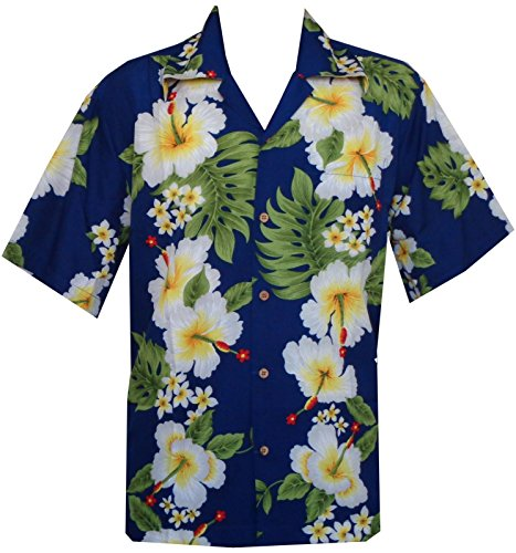 Hawaiian Shirt 10 Mens Hibiscus Floral Print Beach Camp Party Aloha Green XL - Aloha Dress
