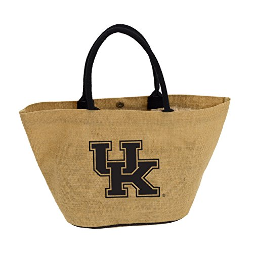 NCAA Kentucky Wildcats Adult Avalon Jute Tote, Brown, 6 x 19 x (Kentucky Wildcats Pool)