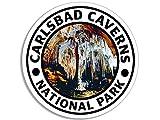Round CARLSBAD CAVERNS National Park Sticker (hike travel rv)