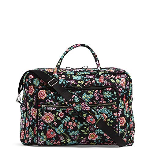 992eafba5 Vera Bradley Iconic Grand Weekender Travel Bag, Signature Cotton, Vines  Floral, One Size