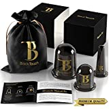 BlackTouch Silicone Facial Cupping Therapy Set - Eye and Face Vacuum Massage Kit - 4 Cups with Free Exfoliating Cleansing Brush - Anti-Wrinkle and Anti-Aging Chinese Suction Massager