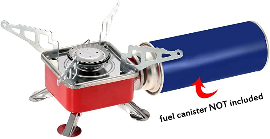 TOMSHOO Estufa de Gas butano Cámping Portátil Plegable Al aire libre 2800W