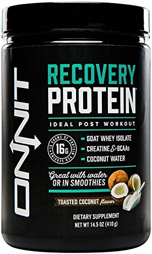 Onnit Recovery Protein: Post Workout Supplement with Whey Isolate, Creatine, and Coconut Water - Toasted Coconut Flavor (10 Servings), 410 Gram - Recovery Formula Tub
