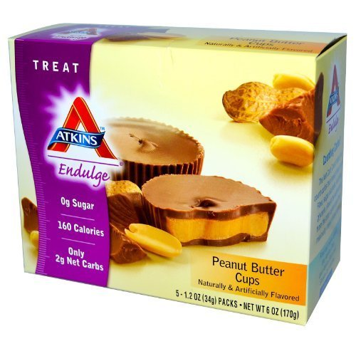 Atkins Peanut Butter Cup Endulge Bars 5 servings, 1.2 oz each (Net wt 6 Oz) by Atkins by Atkins