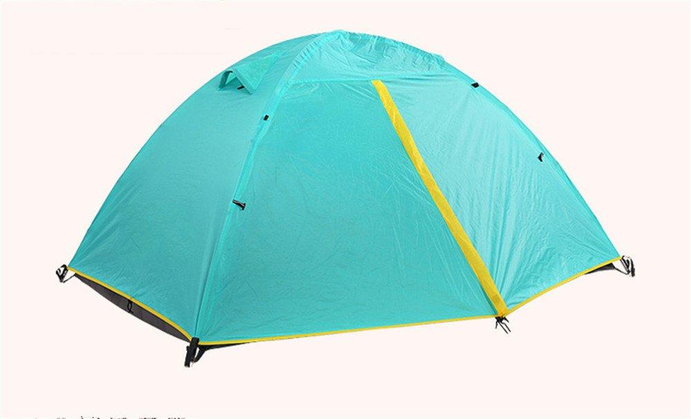 Kaxima Outdoor-Camping doppelte Camping Zelt Riot Regen Sonnenschutz Mehrpersonen Zelt