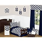 Sweet-Jojo-Designs-Fitted-Crib-Sheet-for-Navy-and-White-Chevron-BabyToddler-Bedding-Zig-Zag-Print