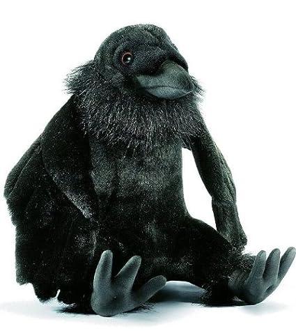 Plush Soft Toy Sitting Raven by Hansa. 25cm. 4943 by Hansa