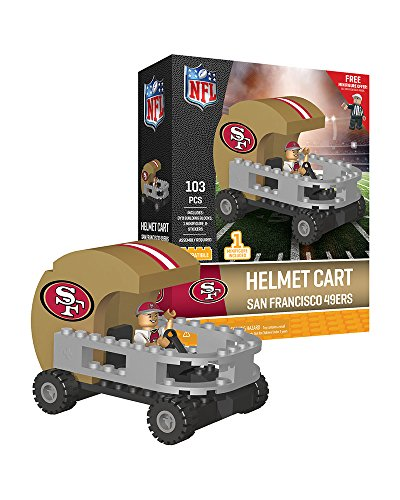 San Francisco 49ers OYO Sports Helmet Cart with Minifigure 103PCS (San Francisco 49ers Miniature)