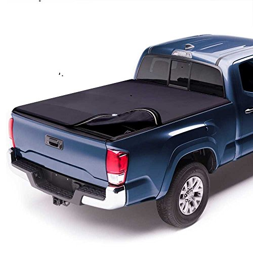Prime Choice Auto Parts TC603323 5.5ft Bed Rubber Sealed Lock & Roll Up Soft Tonneau Cover