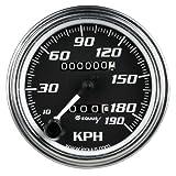 "Equus 7079 3-3/8"" Chrome 190 KPH Mechanical Speedometer"