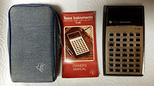 Texas Instruments TI-30 Scientific Calculator, Vintage 1976