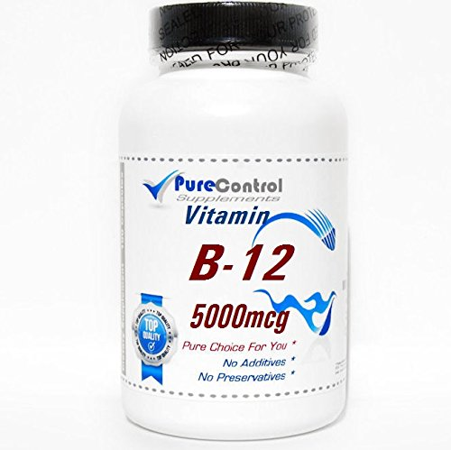 B-12 Vitamin 5000mcg * // 100 Capsules // Pure // by PureControl Supplements