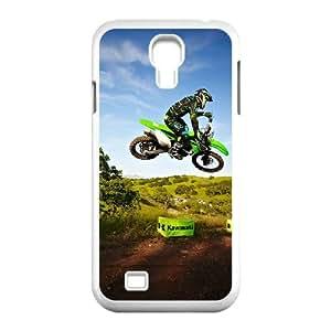 Samsung Galaxy S4 9500 Cell Phone Case White Motocross GIQ Design Unique Cell Phone Case