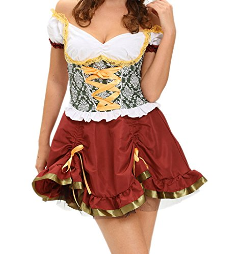 Aztec Costume Uk (BYY Adult Beer Garden Girl Costume(Size,S))