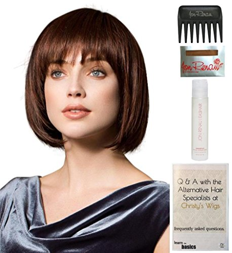 Bundle - 5 items: Change Wig by Ellen Wille, 15 Page Christy's Wigs Q & A Booklet, 2oz Travel Size Wig Shampoo, Wig Cap & Wide Tooth Comb COLOR: Espresso Mix by Ellen Wille & Christy's Wigs