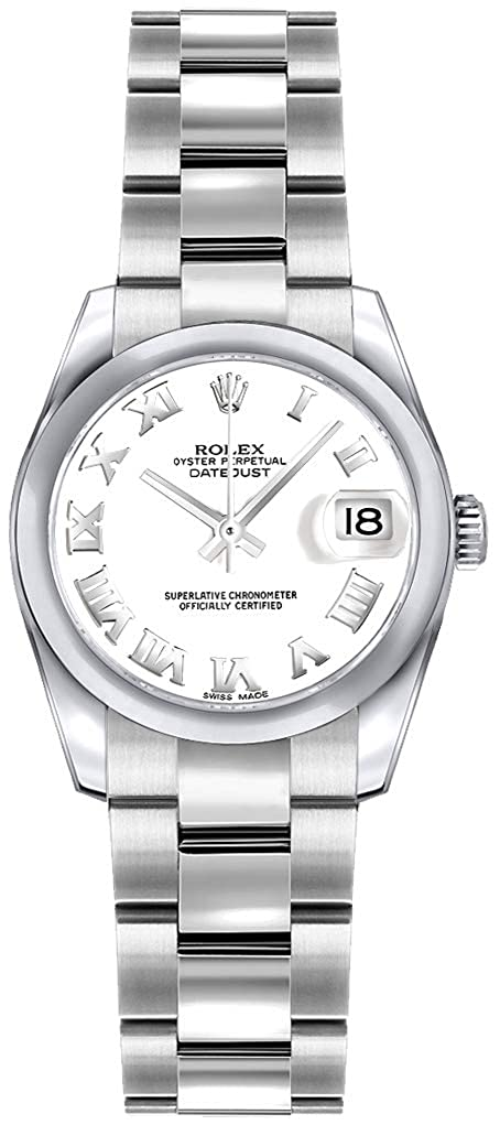 Rolex Lady Datejust 179160 White Roman Numeral Dial 26mm Womens Watch