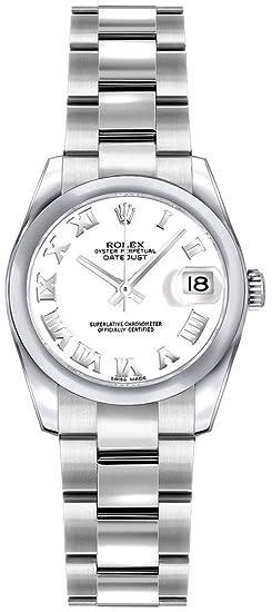 Rolex Lady Datejust 179160 blanco números romanos esfera reloj para mujer de 26 mm