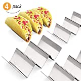 Taco Holder, HomeCito 4 Pack Stainless Steel Taco Stand Compact Taco Shell Holder Tortilla Rack for Taco Tuesday Party BBQ Picnic, Dishwasher Oven Safe