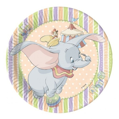 Pack of 10 Disney Dumbo Paper Plates by partyman