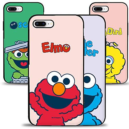 for iPhone 7 Plus Case/iPhone 8 Plus Case, Sesame Street Card Door Bumper Case, Card Slot Case,Anti-Scratch Dual Layer Protective Hard Shell Rugged TPU Bumper Case -