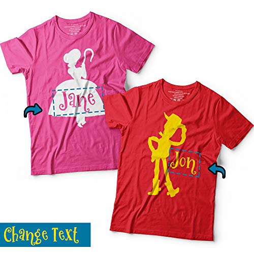 Toy Character Cartoon Matching Couple Halloween Costume Customized Handmade T-Shirt Hoodie/Long Sleeve/Tank -