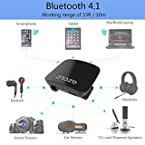 #9: GZCLC Bluetooth Receiver 4.1 Wireless Audio Music Adapter; Handsfree 3.5mm Audio Output, accessories for iPhone, Samsung, Music Docking Stations, Car Stereos, Headphone, Home Audio Stereo System