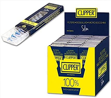Mini Boquillas Slim Clipper. c/ uno. filtros finos para cigarrillos de 6mms.