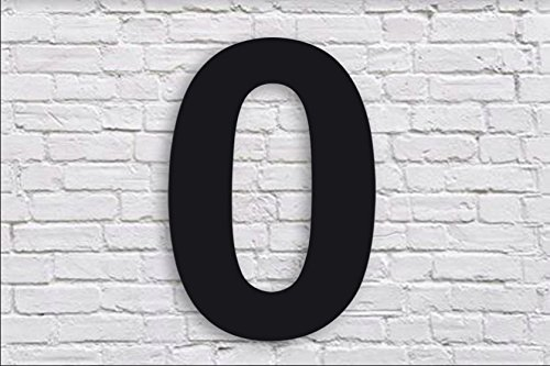 QT Modern House Number - 6 Inch Black - Stainless Steel (Number 0 Zero), Floating Appearance, Easy to Install and Made of Solid 304 Stainless Steel by QT Home Decor (Image #2)