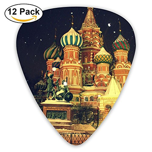 12-pack Fashion Classic Electric Guitar Picks Plectrums Moscow Red Russia Winter Instrument Standard Bass Guitarist