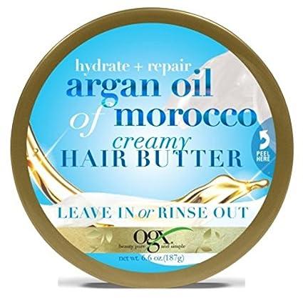 Ogx Argan Oil Of Morocco Creamy Hair Butter 6.6oz Jar (3 Pack) OGX (Organix)