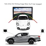 Digital Wireless Backup Camera Kit, TOGUARD 5'' LCD Backup Monitor + IP69 Waterproof 170°Wide View Angle Rear View License Plate Reverse Camera with 8 LEDs, Super Night Vision for Cars/Pickup